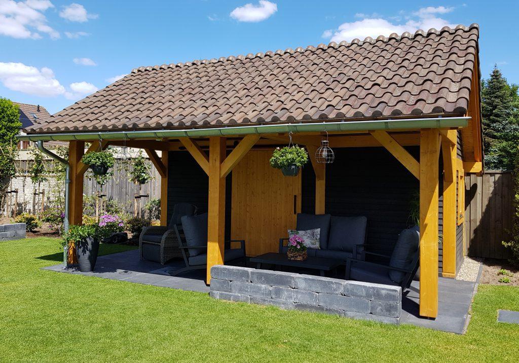 maatwerk tuinhuis Tuin & Terras Ysselsteyn overkapping kapschuur veranda blokhut