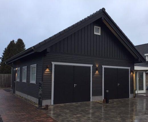 Maatwerk houtbouw garage inspiratie sfeertuin Tuin & Terras Ysselsteyn