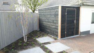 modern douglas tuinhuis zwart