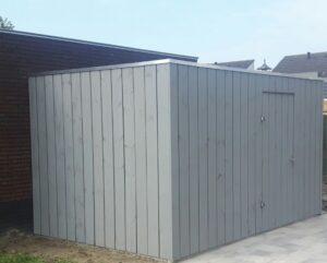 Modern tuinhuis hout grijs geïmpregneerd