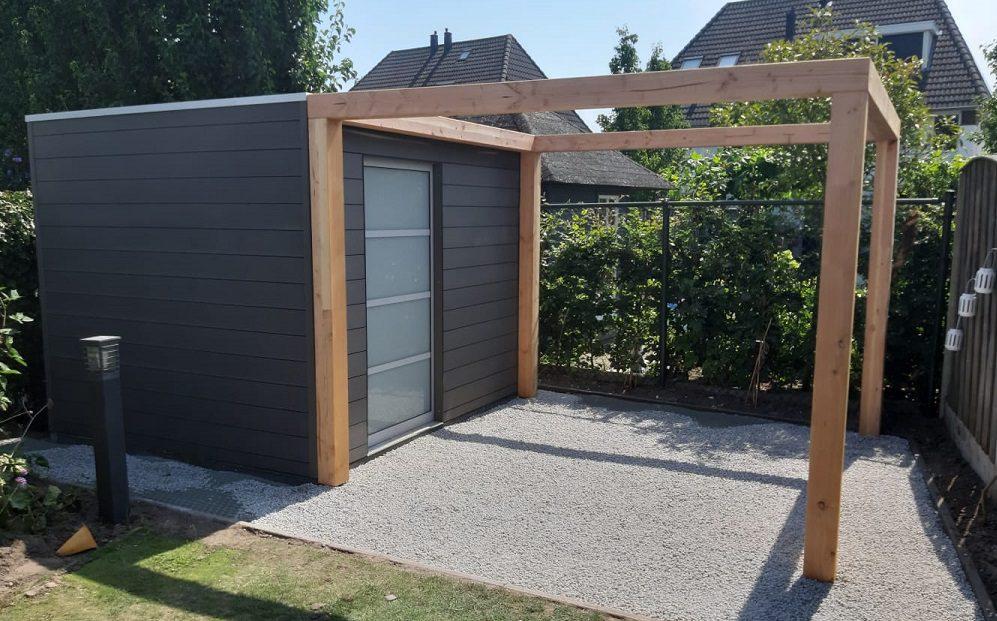 composiet tuinhuis douglas hout pergola Tuin & Terras Ysselsteyn Venray Venlo Horst Boxmeer Vlierden Asten Castenray Ommel Deurne