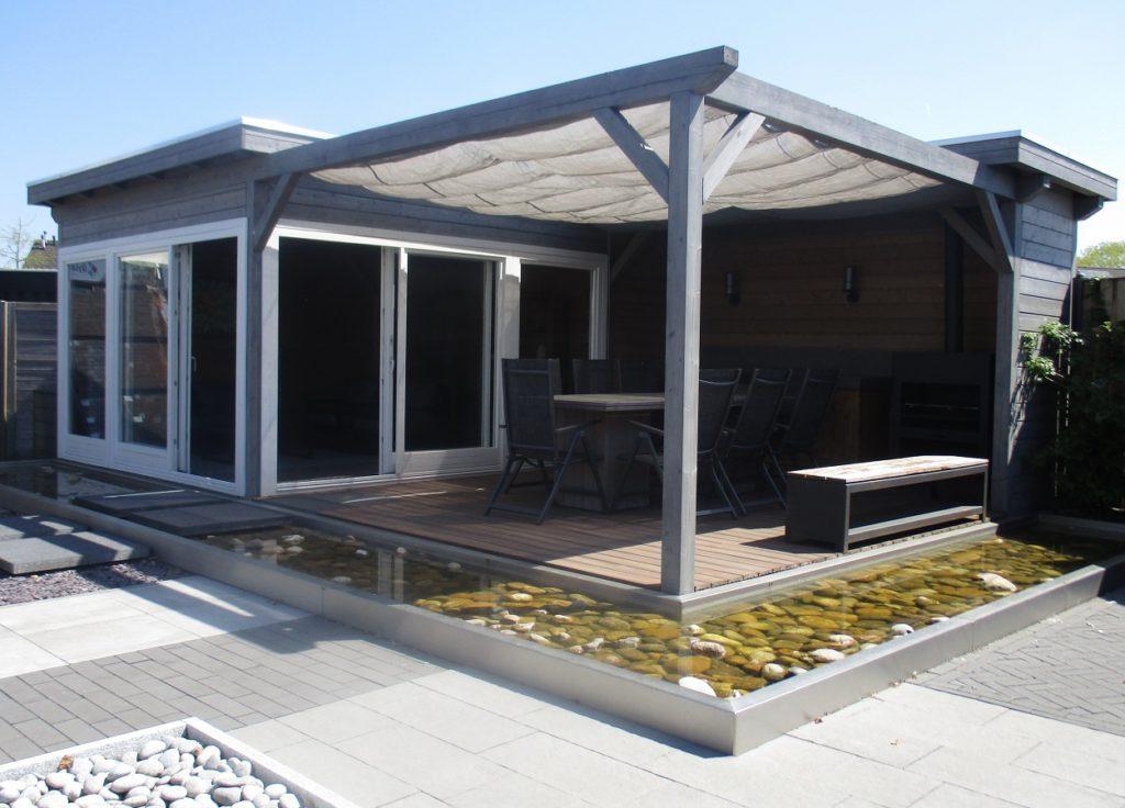 Modern zomer tuinhuis Inspiratie sfeertuin Showtuin Tuin Terras Ysselsteyn Limburg Venray Nijmegen Helmond Roermond Sittard Eindhoven