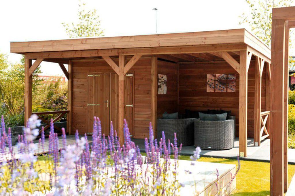 tuinhuis veranda overkapping blokhut buitenverblijf terrasoverkapping kapschuur