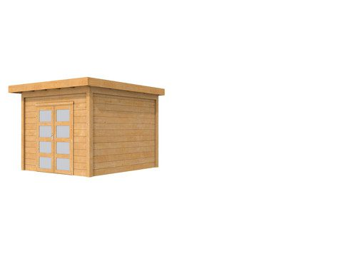 Hillhout douglas Topvision tuinhuis Roek 298 x 298 cm