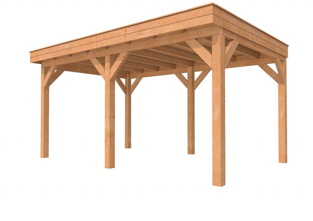 Hillhout douglas buitenverblijf plat dak II