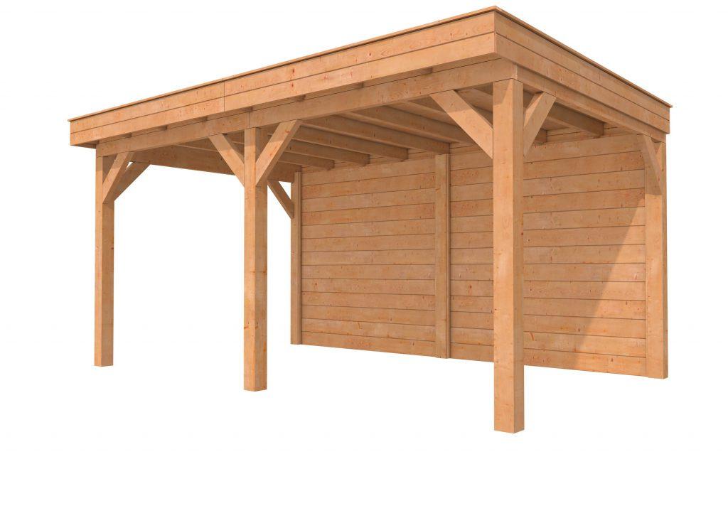 Hillhout buitenverblijf plat dak II
