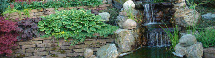 afwatering vijver waterornament drainage water drainagesystemen roosters watervallen kuipen beeklopen afdekplaten beton natuursteen tuinvijver