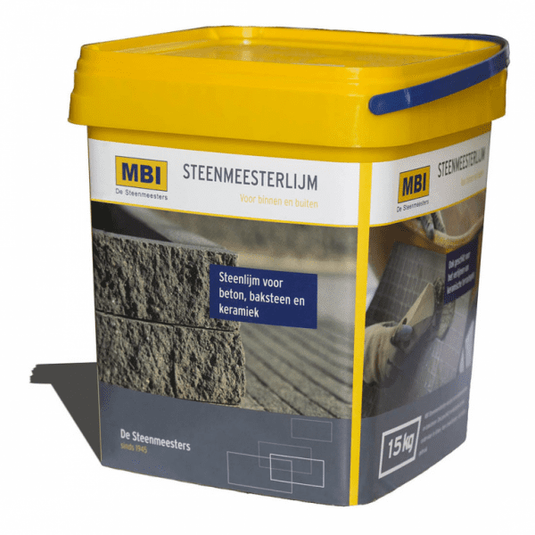steenlijm MBI tuinonderhoud tuinmontage onderhoud montage schuttingen overkappingen schroeven steenlijm lijm mortel cement voegmortel bostik